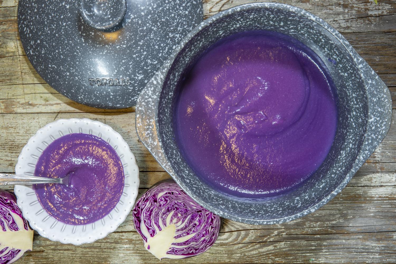 crema di cavolo viola